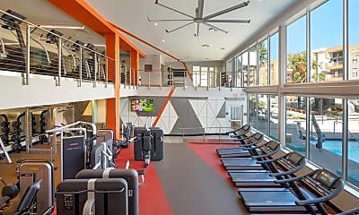 Fitness Weight Room, AVA Studio City, 1