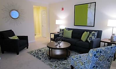 Living Room, The Ledges Apartments, 1