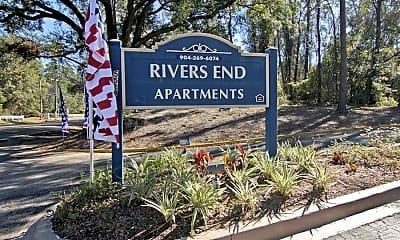 Community Signage, Rivers End, 0