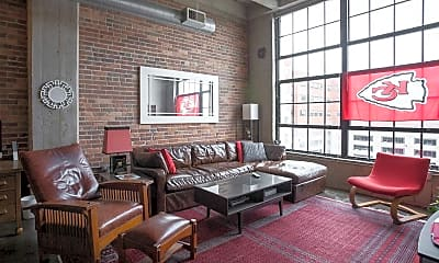 Living Room, Old Town Lofts, 1