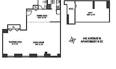Bathroom, 143 Avenue B, 2