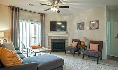 Living Room, Tall Timbers Apartments, 1