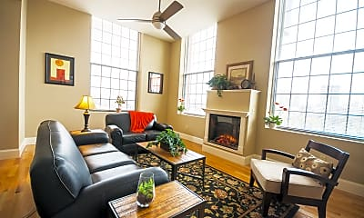 Living Room, Lofts At Mill West, 0