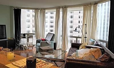 Living Room, 222 N Columbus Dr 1001, 1