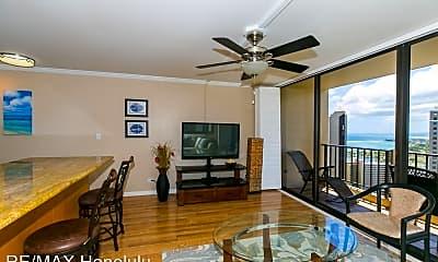 Living Room, 411 Hobron Ln #3206, 1