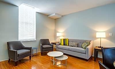 Living Room, Baker Chocolate Factory Apartments, 1