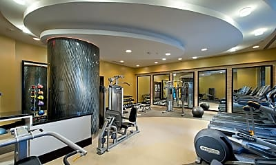 Fitness Weight Room, Solaire Silver Spring, 1