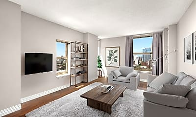 Living Room, 100 West Chestnut Apartments, 0
