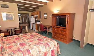 Bedroom, Crown Efficiency Apartments, 2