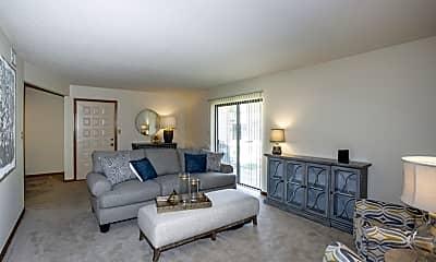 Living Room, Broadway Village Apartments, 0