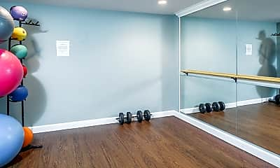 Fitness Weight Room, The Mansion Apartments, 2