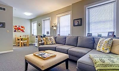 Living Room, Astor Court Apartments, 1
