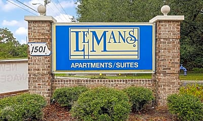 Community Signage, Lemans Apartments Lakeland, 2