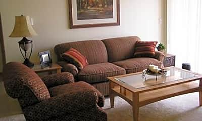 Living Room, Park Terrace Apartments, 2