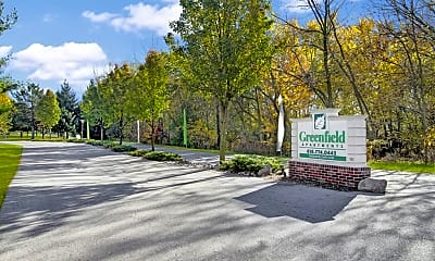 Entance Sign, Greenfield Apartment Homes, 0