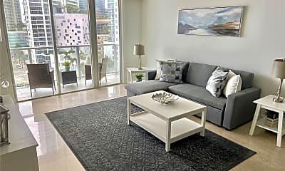Living Room, 1155 Brickell Bay Dr 1003, 1