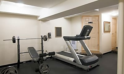 Fitness Weight Room, Towne House Apartments, 2