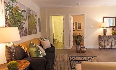 Living Room, Parkway Apartments, 1