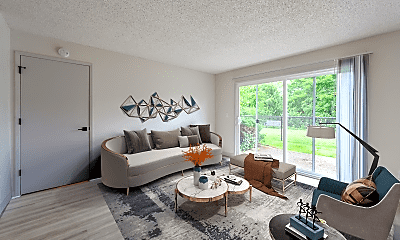 Living Room, Tempo West Apartments, 0
