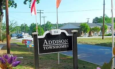 Community Signage, Addison Townhomes, 1