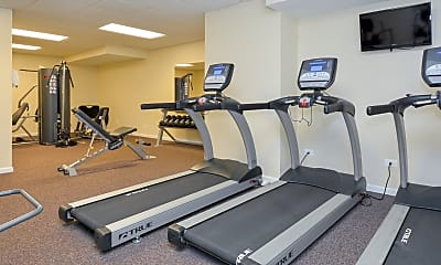 Fitness Weight Room, Lansdowne Towers Apartments, 2