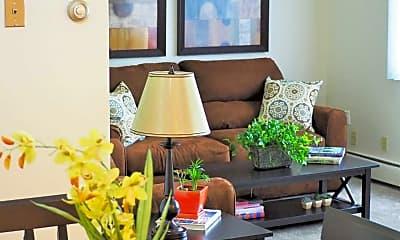 Living Room, Hampden Square Apartments, 0