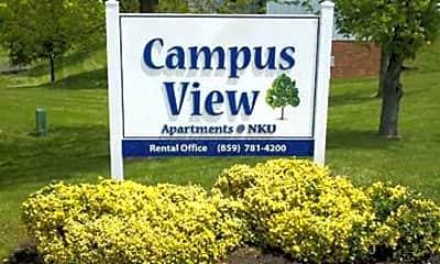 Community Signage, Campus View Apartments, 0