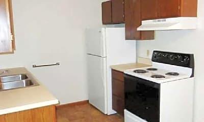Kitchen, Oak Place Apartments, 1