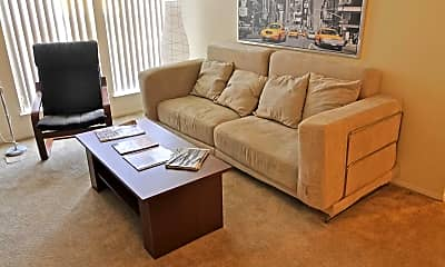 Living Room, Hickory Woods Apartments, 1
