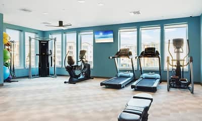 Fitness Weight Room, Clyde Morris Landings Apartment Homes, 0