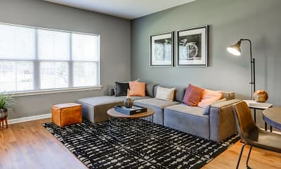 Living Room, Spring View Apartments, 1