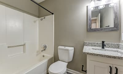 Bathroom, Abbey Lake Apartments, 2