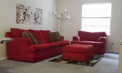 Living Room, Deerwood Apartments, 1