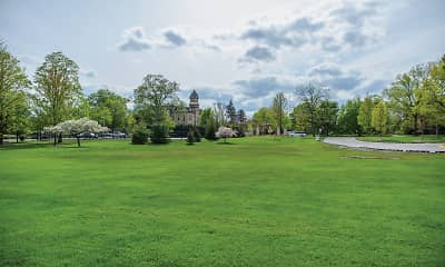 surrounding community with an expansive lawn, Elm Creek, 2