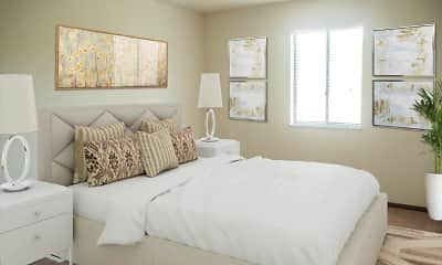 Bedroom, Squires Manor Apartment Homes, 1