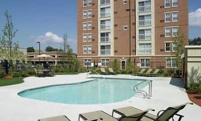 Pool, Cloverleaf Apartments, 1