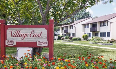 Community Signage, Village East Apartments, 2