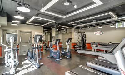 Fitness Weight Room, Short Hills Club Village, 1
