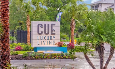 Community Signage, Cue Luxury Living, 2