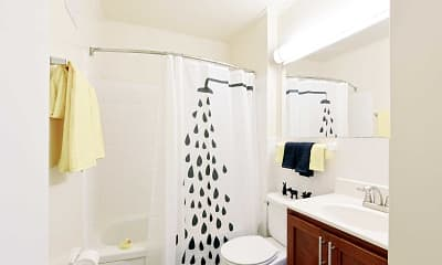 Bathroom, Carriage Park Apartments, 2