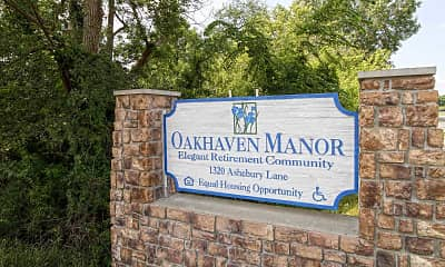 Community Signage, Oakhaven Manor, 2