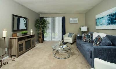 Living Room, Park West Apartments, 0