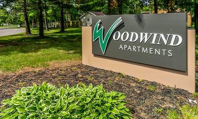Community Signage, Woodwind Apartments, 2