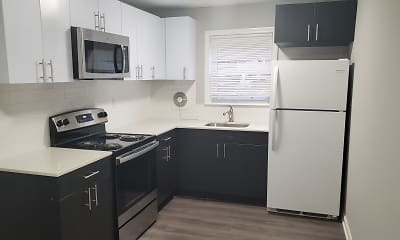 Kitchen, Willow Pointe Apartments, 2