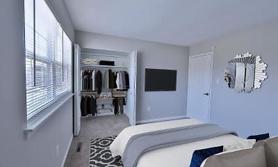 Bedroom, Village Square Townhomes and Apartments, 2