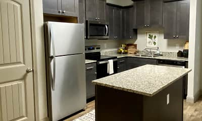 Kitchen, Lone Oak Apartments, 1