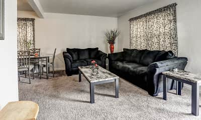 Living Room, Penn Garden Apartments, 0
