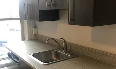 Kitchen, Normandie Apartments, 1