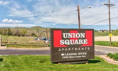 Community Signage, Union Square, 2