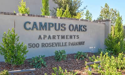 Community Signage, Campus Oaks Apartments, 2